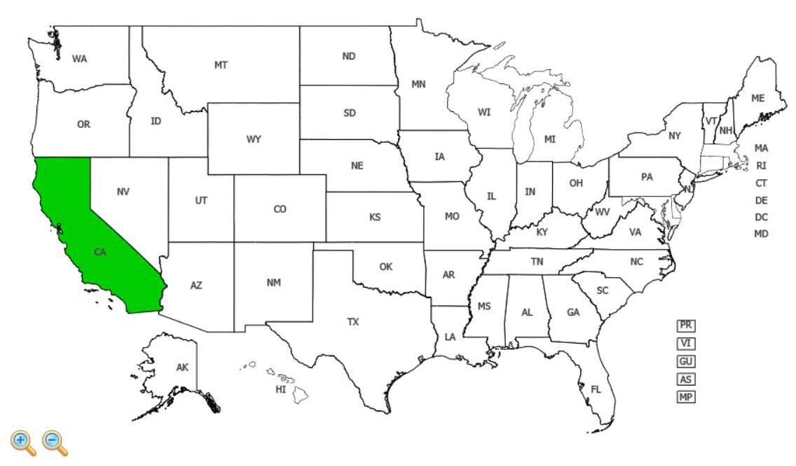 Summer pheasant's eye distribution - United States