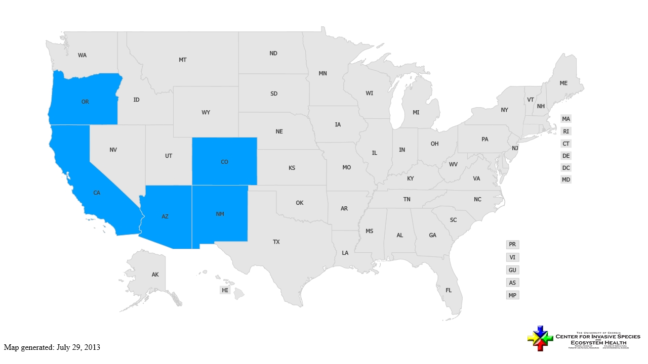 Halogeton distribution - United States